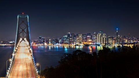 Сан - Франциско, мост, ночной город