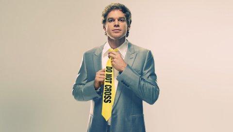 Dexter morgan, dexter, майкл c зал, галстук, актер, главный герой