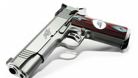 Пистолет, стиль, дизайн, клип