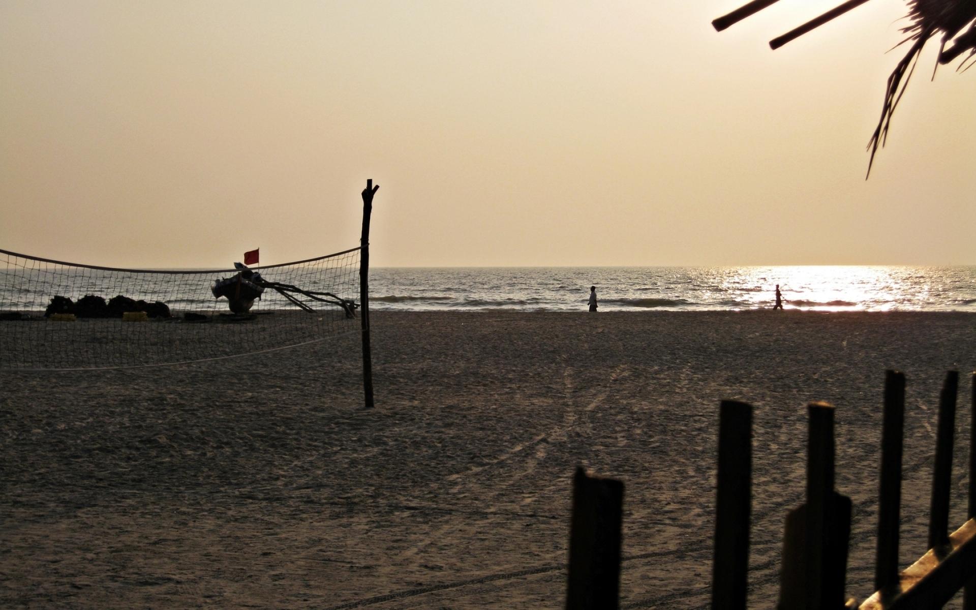 Картинки Пляж, песок, сетка, побережье фото и обои на рабочий стол
