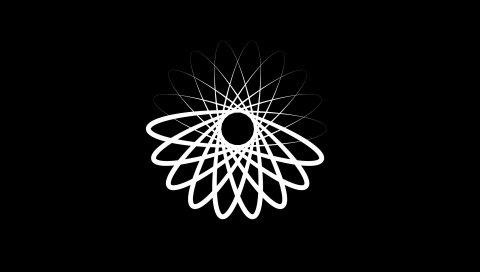 Шаблоны, связи, линии, черный фон