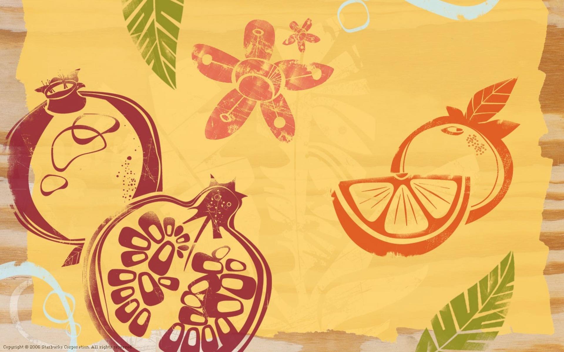 Картинки Текстура, фон, фрукты, бумага фото и обои на рабочий стол