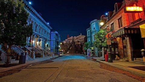 Сан-Франциско, улица, калифорния, США, ночь, здание
