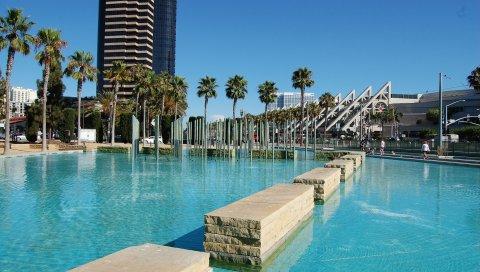 Детский парк, фонтан, сан диего, калифорния, США