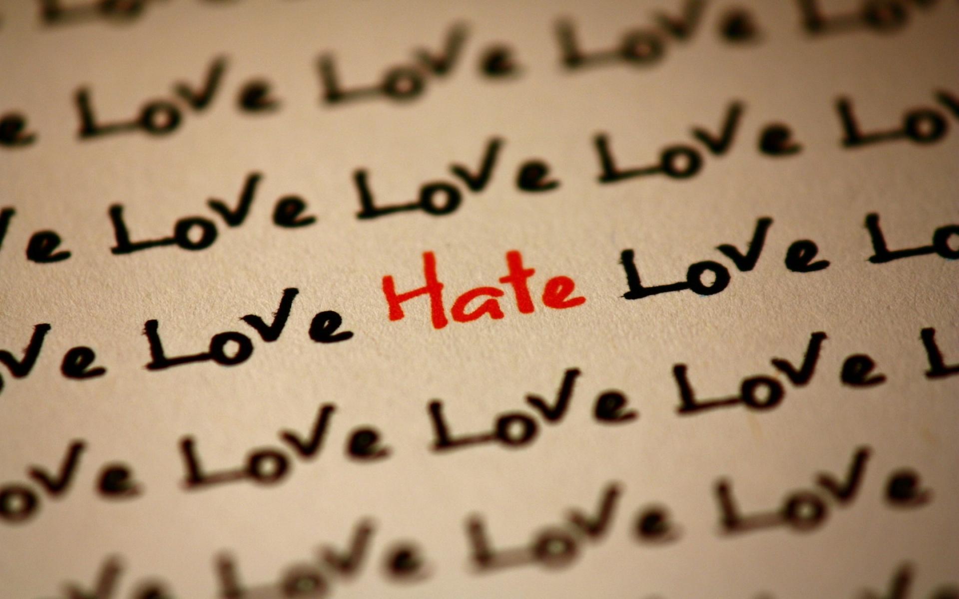 Картинки Надпись, любовь, ненависть, бумага, почерк фото и обои на рабочий стол