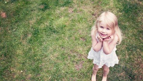 Маленькая девочка, улыбка, дух, ангел