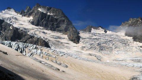 Горы, снег, рельеф, покрытие