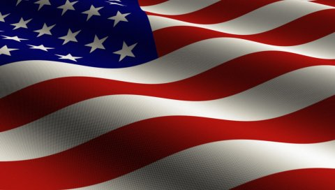 Флаг, США, звезды, полосы,