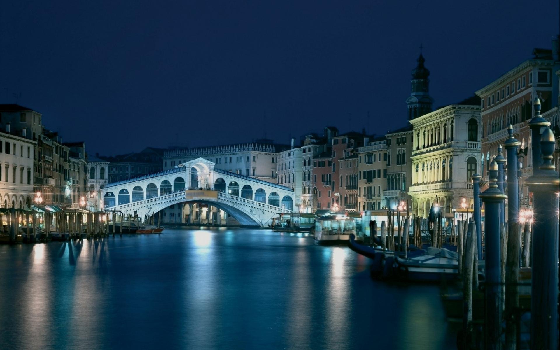 Картинки Венеция, Италия, архитектура, вечер, канал, здание фото и обои на рабочий стол