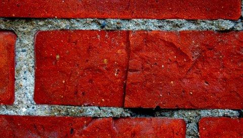 Стена, кирпич, цемент, фон, текстура