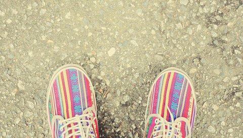 Обувь, кроссовки, полосатый, стиль, шнурки для обуви