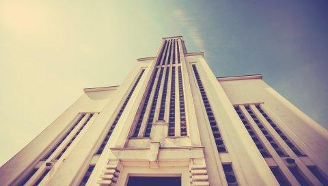 Здание, небоскреб, архитектура, небо