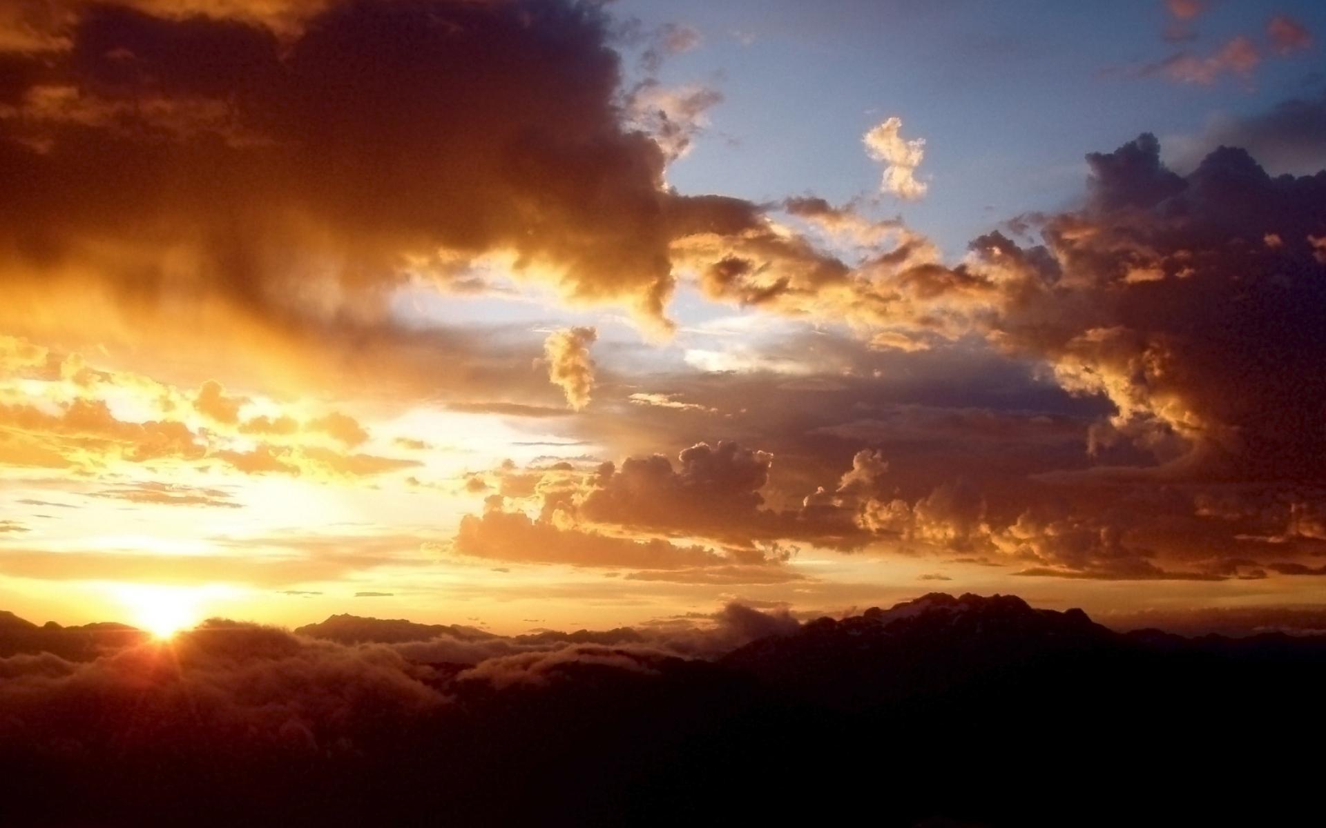 закат солнце облака  № 3851941 без смс