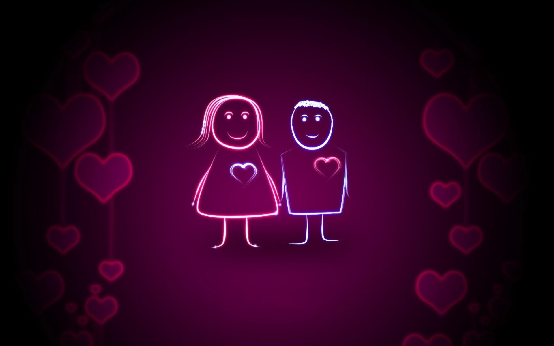 Картинки Пара, сердце, свет, фон фото и обои на рабочий стол