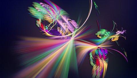 Форма, свет, соединение, красочный