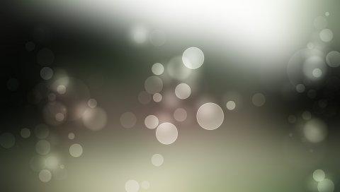 Блики, круги, свет, форма, выцветшие