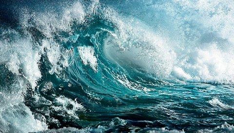 Море, волна, шторм, искусство, цвета