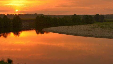 Река, упад, пейзаж