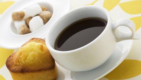 Кекс, сердце, кофе, партия