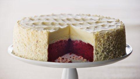 Чизкейк, сладкий, десерт, разрез, пирог, слои
