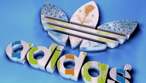 Adidas, производитель, спортивная одежда, логотип