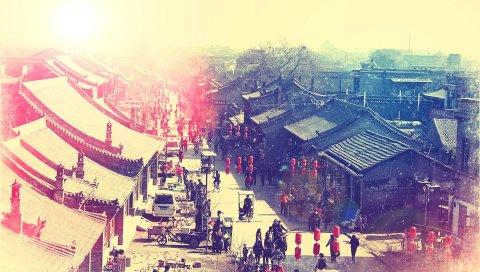 Китай, улица, люди, жизнь