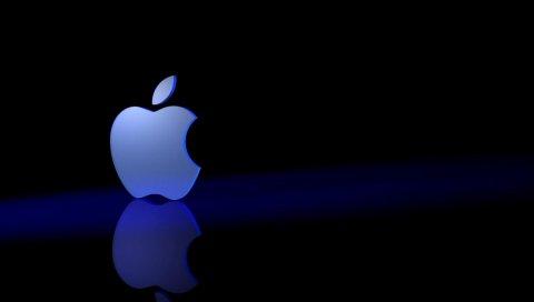 Яблоко, mac, бренд, логотип, неон, свет, символ