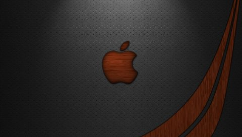 Apple, Mac, бренд, логотип, линия, цвет, поверхность