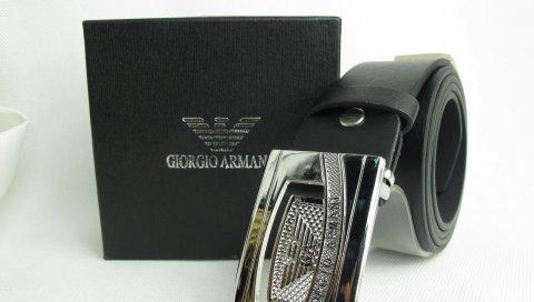 Armani, пояс, стильный, черный
