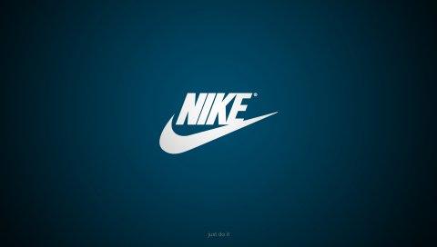 Nike, логотип, спорт, надпись, минимализм
