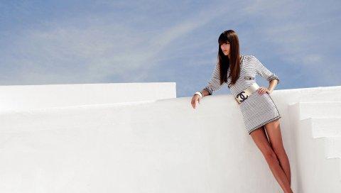 Chanel, девушка, поза, модель