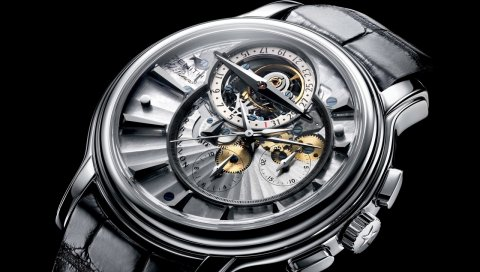 Zenith el primero tourbillon, часы, часы, стиль, крупный план