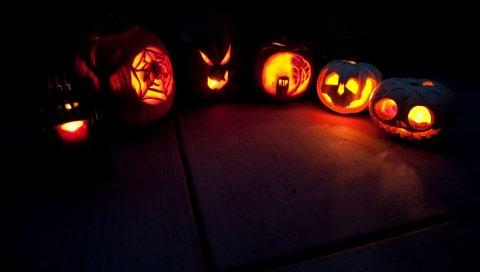 Хэллоуин, праздник, тыква, свет, полукруг, свет