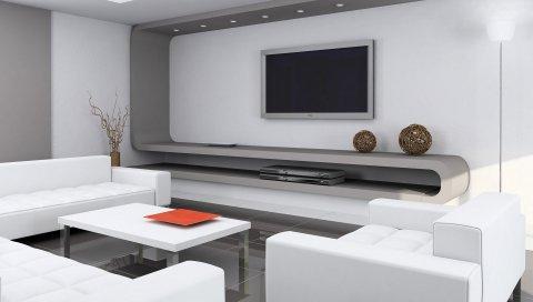 Интерьер, комната, диван, телевизор,