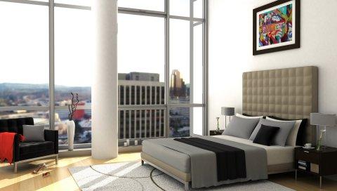 Комната, стиль, интерьер, вид