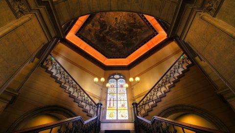 Лестница, здание, стиль, дизайн