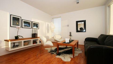 Комната, картины, диван, стиль, мебель