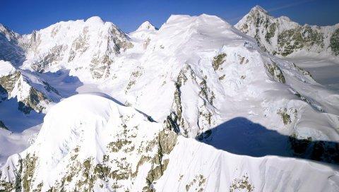 Аляска, горы, снег, высота