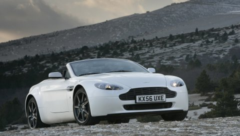 Aston martin, v8, vantage, 2006, белый, вид спереди, авто