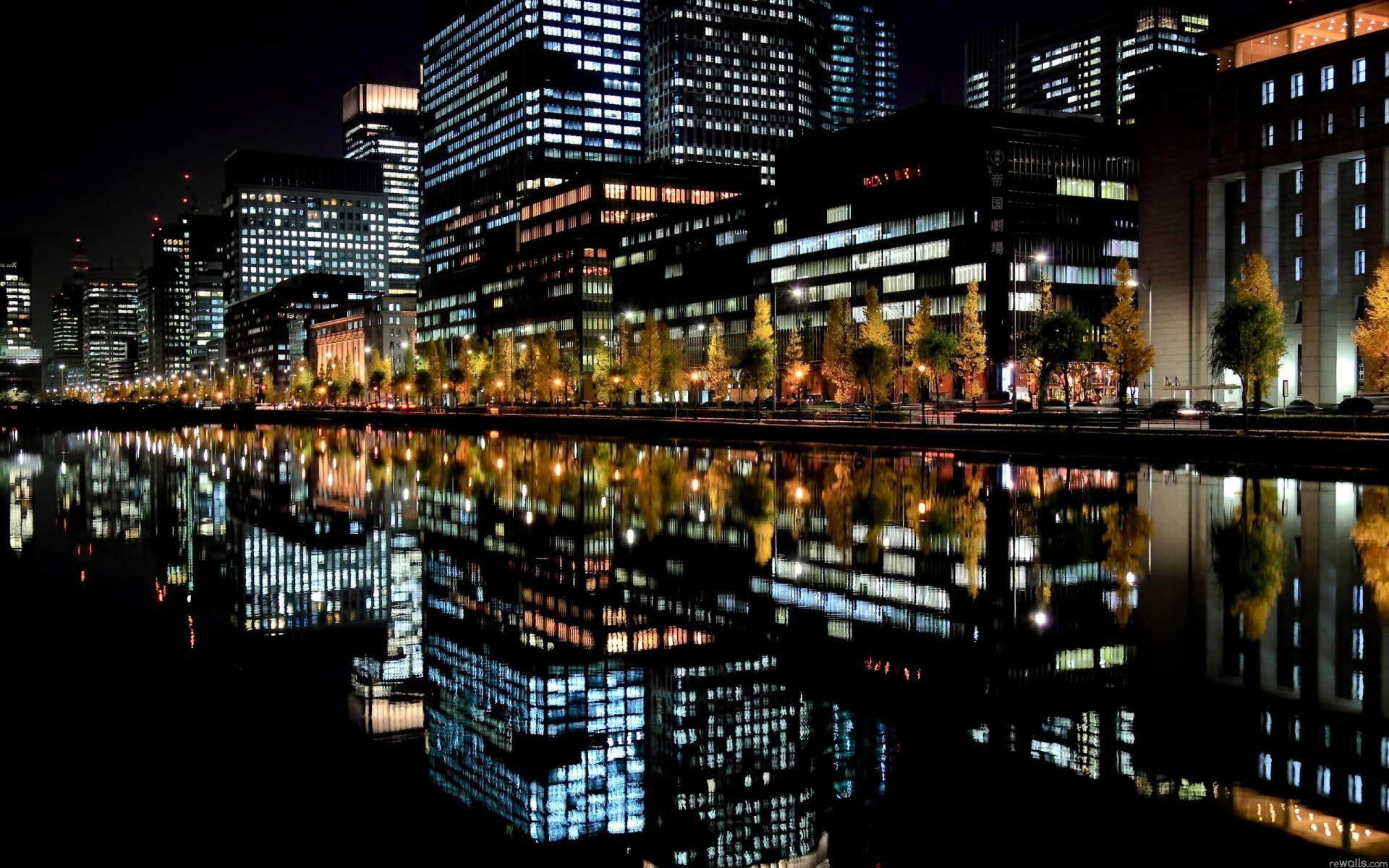 Вечерний город картинки на рабочий стол