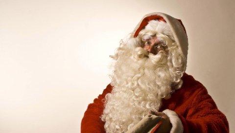 Санта-Клаус, рождество, праздник, сумка