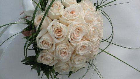 Розы, цветы, свадебный букет, композиция, дизайн