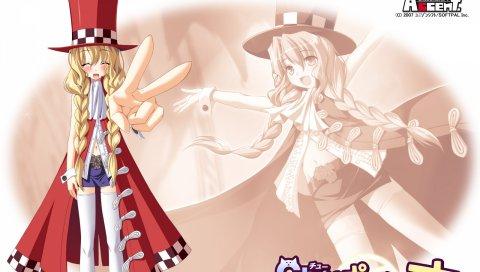 Ozawa akifumi, chu x chu paradise, uesugi uta, девушка, шляпа, пальто