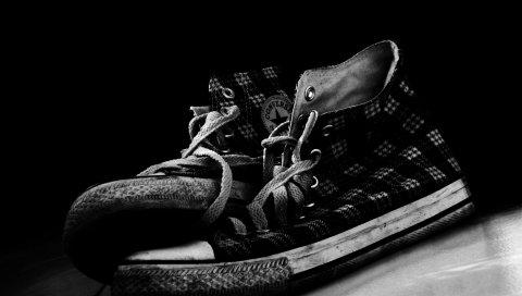 Обратная сторона, кроссовки, стиль, черный белый, обувь, спорт