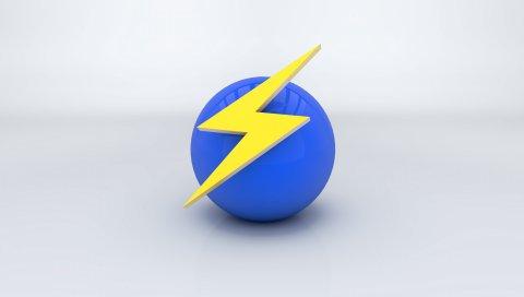 Мяч, знак, стрела, молния