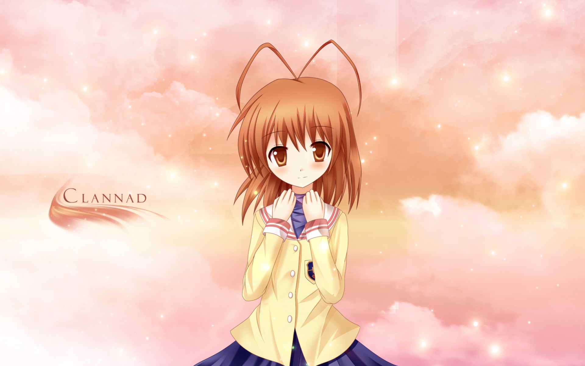 Картинки Clannad, furukawa nagisa, девушка, юбка, небо фото и обои на рабочий стол
