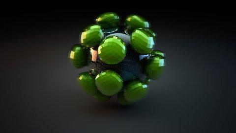 Мяч, форма, компоненты, свет, тень