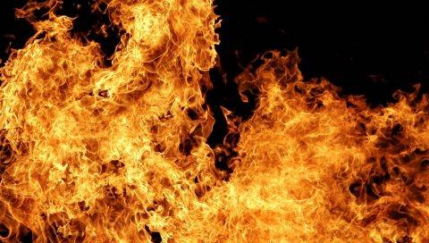 Огонь, огонь, белый, темный, вспышка, взрыв