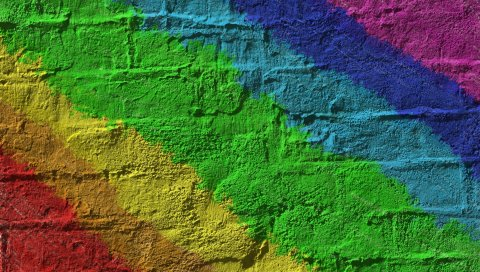 Текстура, стена, кирпич, цветной
