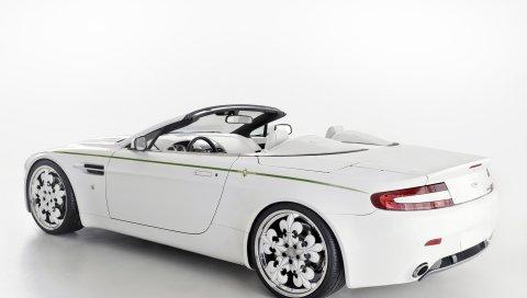Aston martin, v8, vantage, 2010, белый, вид сбоку, стиль, авто